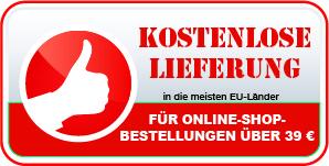 Kostenlose Lieferung für Online-Shop-Bestellungen über 20 Euro in die meisten EU-Länder