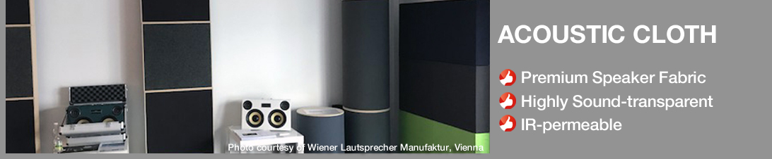 Speaker fabrics from Akustikstoff.com: The OEM choice of high end loudspeaker manufacturers all over