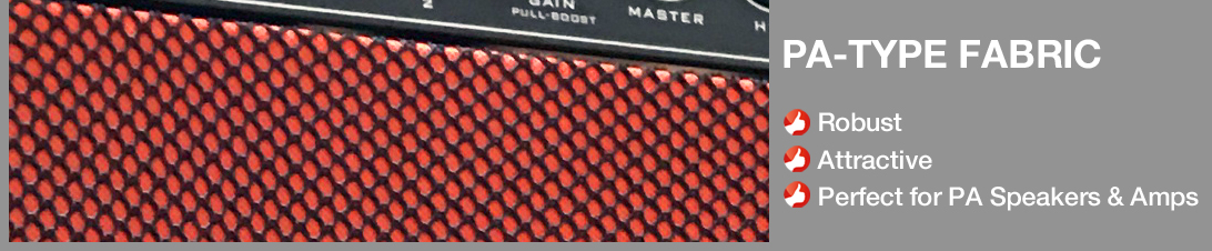 Akustikstoff.com PA-Type Acoustic Cloth - the speaker fabric for PA speakers, instrument amps, and o