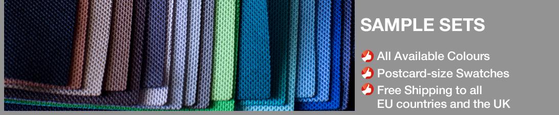 Sample swatches of Akustikstoff.com speaker fabrics. Free shipping. Order now!