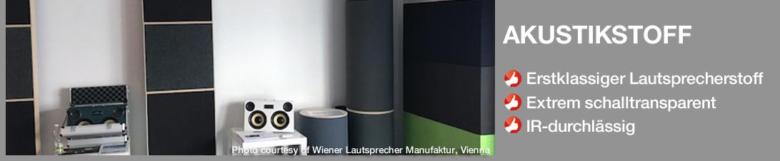 Lautsprecherstoff von Akustikstoff.com: Erste Wahl bei High-End Lautsprecherherstellern in aller Wel