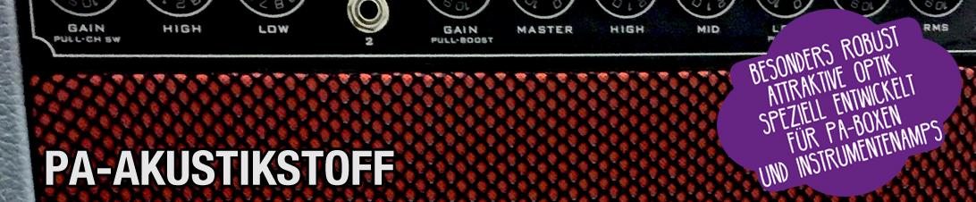 Akustikstoff.com PA-Akustikstoff für PA-Boxen Instrumentenamis und andere Live-Anwendungen