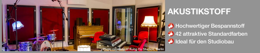 Akustikstoff fürs Tonstudio in 42 attraktiven Farben