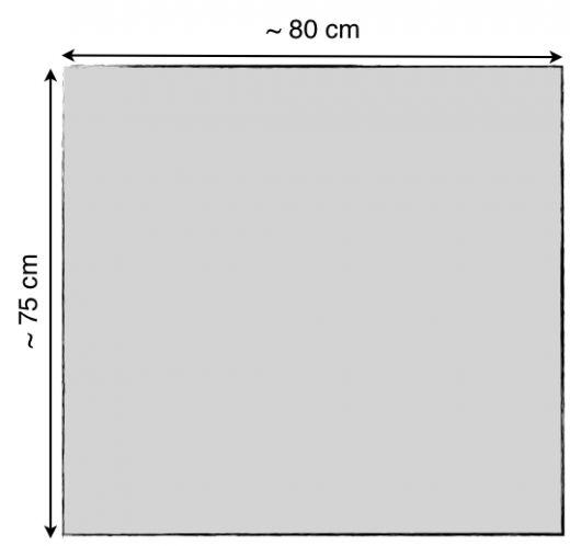 Akustikstoff Bespannstoff 42 verschiedene Farben 80 x 75 cm