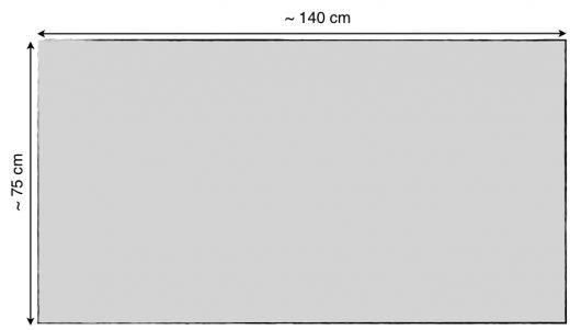 "Metallic Line Acoustic Speaker Cloth • 140 x 80 cm (55.1"" x 31.5"")"