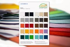 Set of Standard Acoustic Cloth Sample Swatches, All 42 Colours