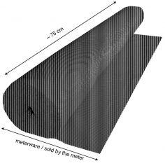 Akustikdesignstoff Metallic-Line Meterware 82 cm